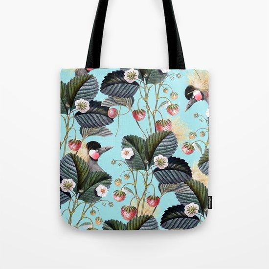 Strawberry Brush Hide-Out #society6 #decor #buyart Tote Bag
