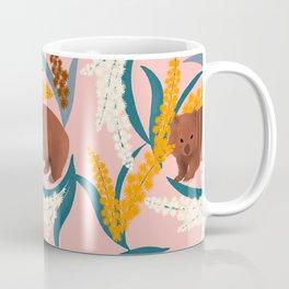 Wombat and Mimosa (aka waddle and wattle) Coffee Mug