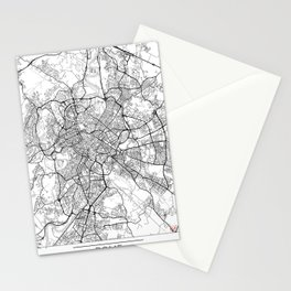 Rome Map White Stationery Cards