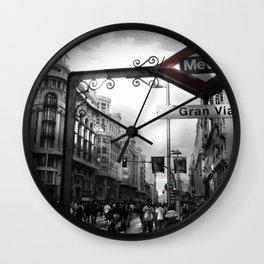 Gran Via-Madrid Wall Clock