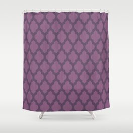Purple Moroccan Shower Curtain