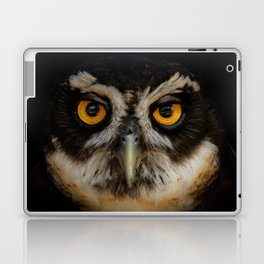 Trading Glances with a Spectacled Owl Laptop & iPad Skin