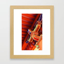 Structure of Kyoto Framed Art Print