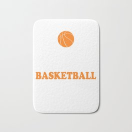 Basketball sports ballgame basket player gift Bath Mat