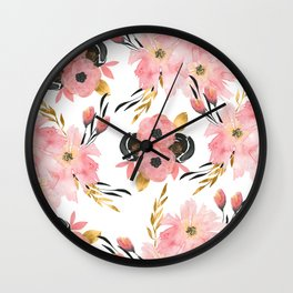 Night Meadow on White Wall Clock