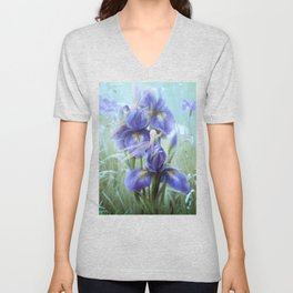 Imagine - Fantasy iris fairies Unisex V-Neck