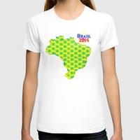 brasil T-shirts featuring Brasil 2014 by Bunhugger Design