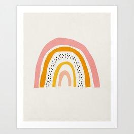 Rainbow, Mid century modern kids wall art, Nursery room Art Print