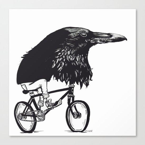 Black Bird Riding Canvas Print
