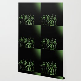Plastic Army Man Battalion Black and Green Wallpaper
