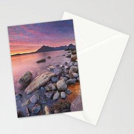 I - Spectacular sunset at the Elgol beach, Isle of Skye, Scotland Stationery Cards