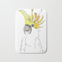 Yellow Crested Cockatoo Bath Mat