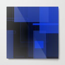 Mono Rectangle - Dark 1/2 Metal Print