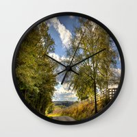 kentucky Wall Clocks featuring Kentucky Road by JMcCool