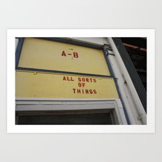 all sorts of things Art Print