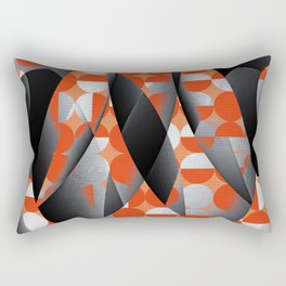 Geometry in red Rectangular Pillow