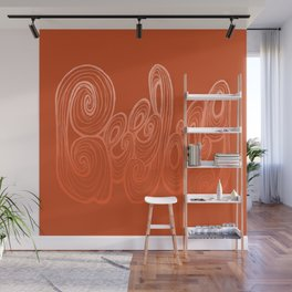 Geelong Typography - Orange Wall Mural