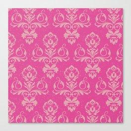 Pink Vintage Damask Canvas Print