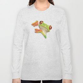 Little Red Eyed Tree Frog Long Sleeve T-shirt