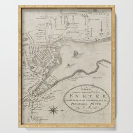 Vintage Exeter NH Map (1802) Serving Tray