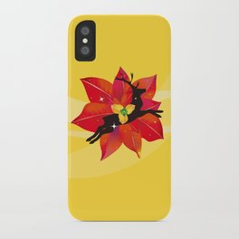Happy Red Christmas - A Stroke of Good Fortune iPhone Case