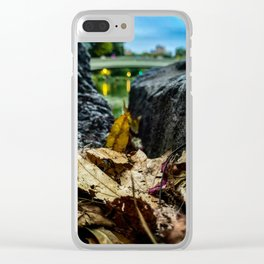 Leave Me Be - Central Park, NYC Clear iPhone Case