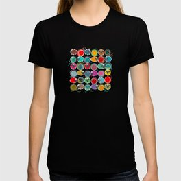 Bright Sheep and Yarn Pattern T-shirt