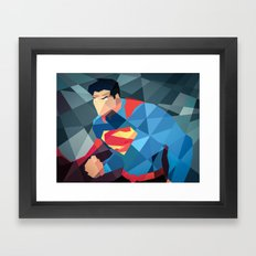 DC Comics Man of Steel Framed Art Print