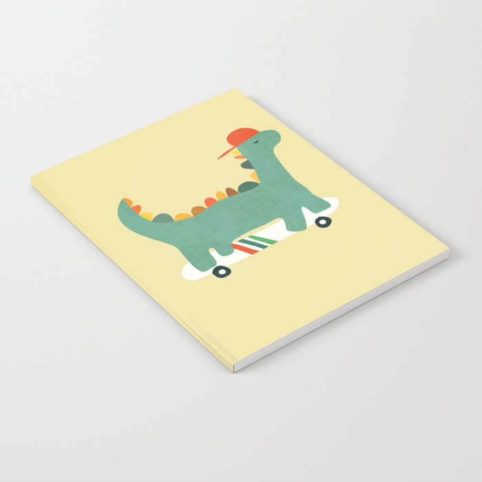 Dinosaur on retro skateboard Notebook