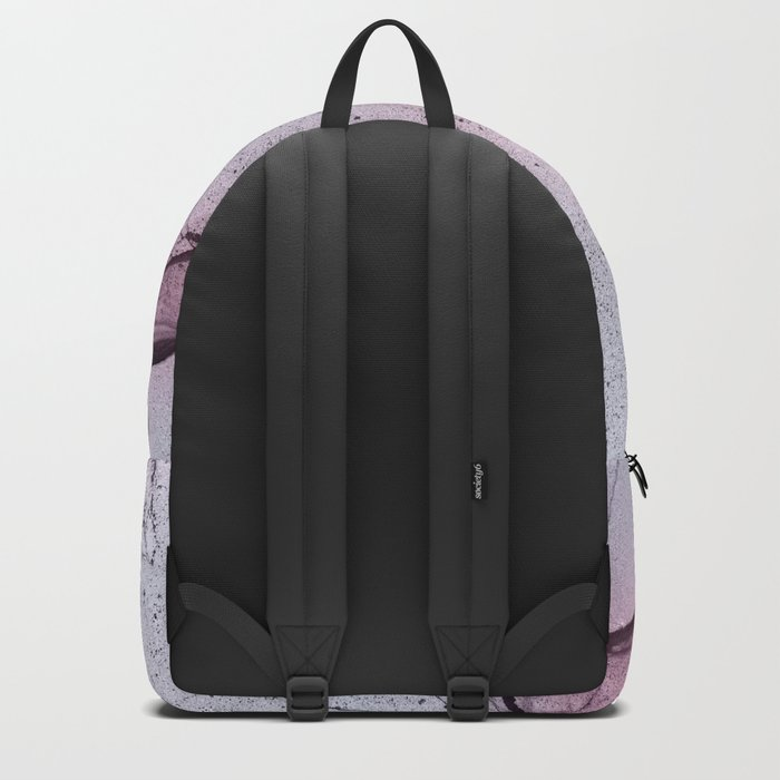 Urban Pink and Grey Marble Backpack
