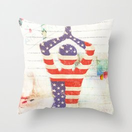Americana Yoga Throw Pillow