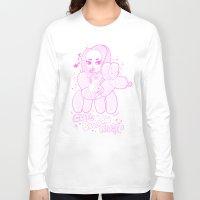 ballon Long Sleeve T-shirts featuring Cute Ballon Rider PINK! by puropopo - プロポポ