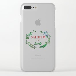 Greetings from the Garden! Clear iPhone Case