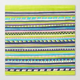 green striped pattern Canvas Print