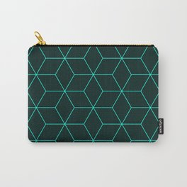 Cube Pattern 01 Green Carry-All Pouch