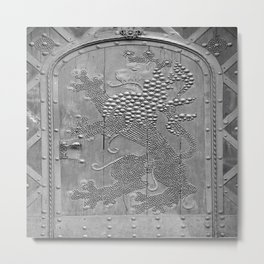 An Old Door Metal Print