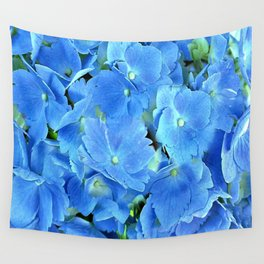 Elegant Blue Hydrangea Wall Tapestry