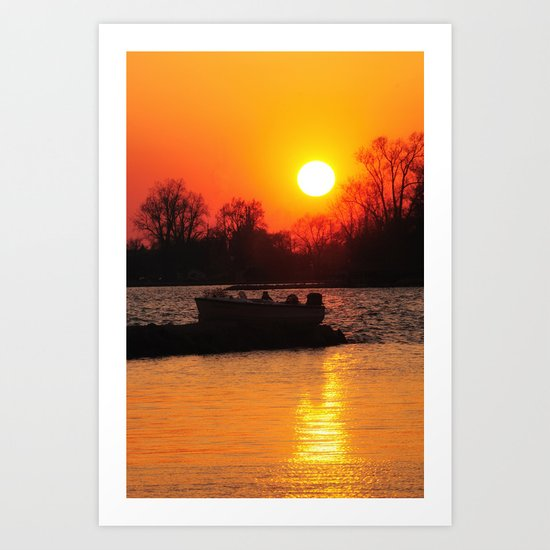 Silhouettes and Fire Art Print