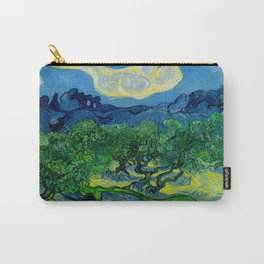 Olive Trees by Vincent Van Gogh Oil Painting Carry-All Pouch