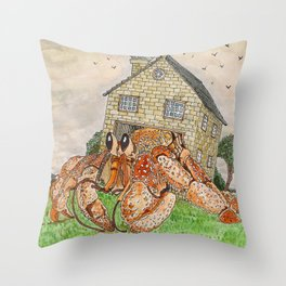 Hermit Apocalypse Throw Pillow