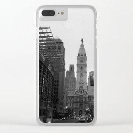 Philadelphia City Hall Clear iPhone Case