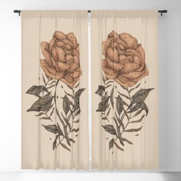 Peony and Ferns Blackout Curtain