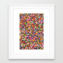 Rainbow Sprinkles Sweet Candy Colorful Framed Art Print