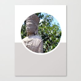 Frank Lloyd Wright's Statue Canvas Print