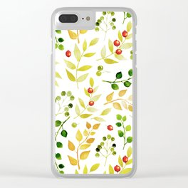 Branches and Leaves 2 Clear iPhone Case