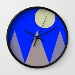 Mountains and Moon Wall Clock