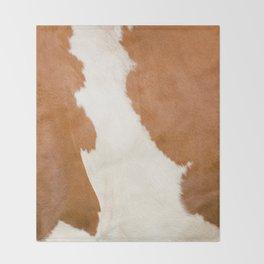 Brown Cowhide v3 Throw Blanket