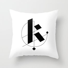 K Minimalist Throw Pillow