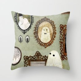 There's A Ghost in the Portrait Gallery Throw Pillow