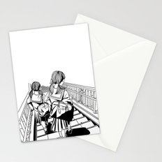 Japanese School Girls  Stationery Cards